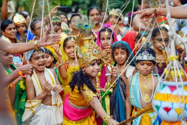 Nation Celebrates the Birth of Lord Krishna